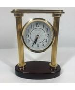 Seiko Desk Mantel Clock Gold Columns Big Face QXG402GL Japan - $37.83