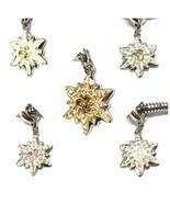 Swarovski Edelweiss Bracelet Charm Crystal Jewelry Pendant Necklace Stai... - $15.66
