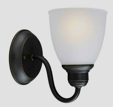 Woodbridge Collection 1-Light Oil-Rubbed Bronze Sconce by Hampton Bay - $18.81