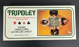 Vintage 1969 Tripoley Game Michigan Rummy Hearts & Poker Crown Edition N... - $55.62