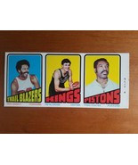 1972 73 Topps Basketball 3-Card Uncut Proof Strip Ron Knight Pete Cross ... - $99.00