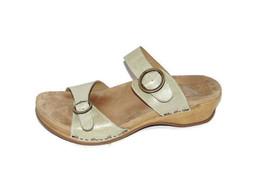 $135 DANSKO 'Manda' Slide sandals Oyster Washed Leather 42 women - $48.21