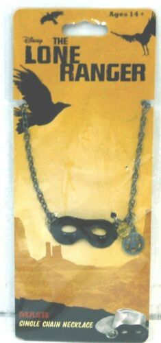 Disneys The Lone Ranger Black Mask Single Chain Necklace 17 Inches