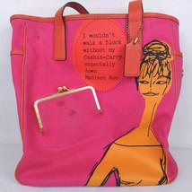 Coach M0873-13379 Bonnie Cashin Carry Canvas Tote Orange / Fuschia Coin ... - $75.00