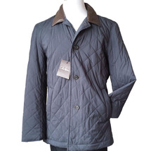 Cole Haan men size M quilted jacket with leather collar Therma Insulation  - $242.50
