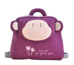 PANDA SUPERSTORE Creative Lovely Cozy Children's Backpack/Plush Backpack(Purple  - $28.55