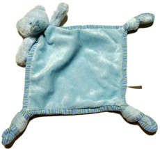 Security Baby Blanket Blue Teddy Bear Russ Plush Toy Knot 35408 Lovey St... - $12.99