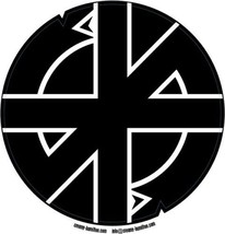 Crass composite laminated circular wall plaque 25cm punk Conflict GBH - €27,18 EUR