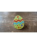Coloré Émaillé Oeuf de Pâques Épingle 3cm - $12.47