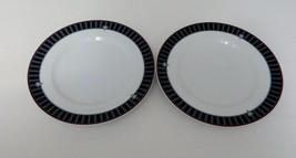 "Noritake Two Fine Porcelain Salad Plates ""Border Bouquet"" pattern 4025 Sri Lanka - $9.89"