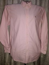 Boys Ralph Lauren Size 20, L/S Button Down Shirt, Pink, Colorful Pony - $6.12