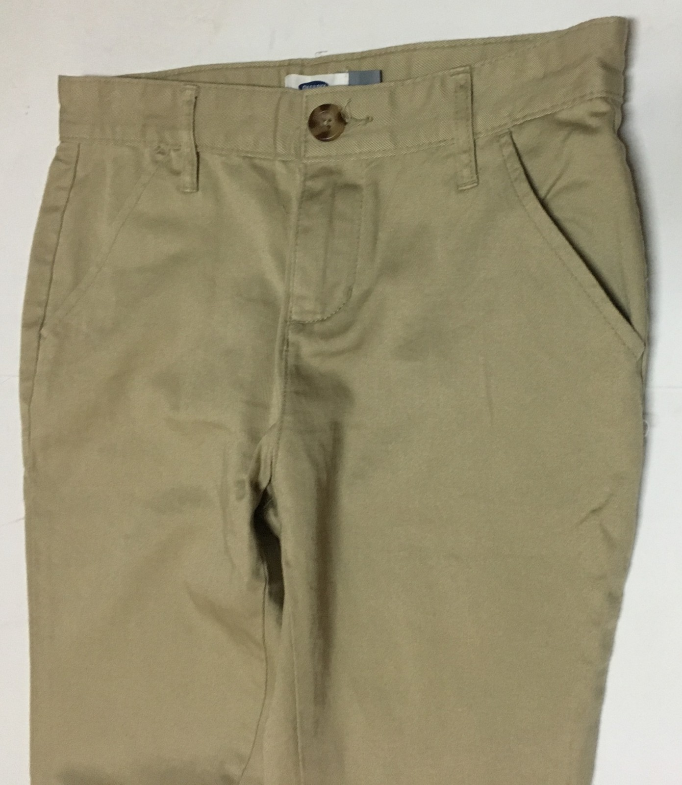 Girl's Old Navy Beige Khaki Pants Sz 14 Slim Skinny Stretch Youth