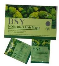 BSY NONI BLACK HAIR Magic Color Dye Shampoo hair nutrition - 2 x 20 Pieces - $50.59