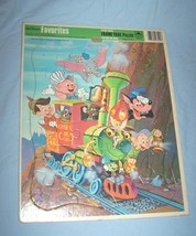 1983 Walt Disney's Favorites Golden Frame-Tray Puzzle-Characters on Locomotive - $9.50