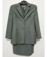Amanda Smith Corduroy Dress Suit Size 12 P Green 2 Piece Set - Dress wit... - $44.46