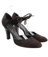 Antionio Melani Womens Size 9 Brown Suede Leather Ankle Strap Tie Front ... - $18.56