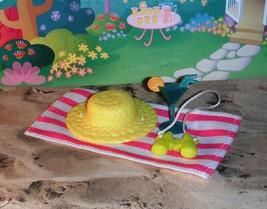 Fisher Price Loving Family Dollhouse Beach Towel Barbie Garden Hat Binoc... - $11.99
