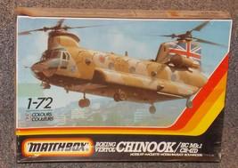 Vintage 1986 Matchbox Boeing Vertol Chinook HC MK.1 CH-47D Model Kit New... - $29.99