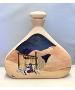 Vintage Terra Cotta Art Pottery Jug/Vase Hand Painted and Signed by the ... - $32.29