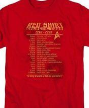 Star Trek Red Shirt Galactic Tour 2266-2269 Retro 60's sci-fi graphic tee CBS953 image 3