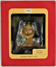 Heirloom Collection King Lion Worlds Best Dad Christmas Ornament Carlton Cards - $14.85
