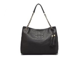 Tory Burch Thea Chain Shoulder Slouchy Tote Black Color for Woman Free S... - $290.00