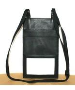 ❤️DILANA Black Genuine Leather ID Passport Holder Bag Travel Lanyard NEW... - $18.04