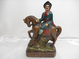 Old Vtg DICK TURPIN & BLACK BESS STATUE Figurine Pottery - $49.49
