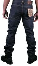 Hawke & Dumar Men's Raw Dark Blue Indigo Slim Straight Fit Jeans NWT image 2