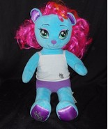 BUILD A BEAR HG HONEY GIRLS BLUE VIV PINK HAIR STUFFED ANIMAL PLUSH TOY ... - $34.29