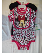 Disney Minnie Mouse Hearts& Mommy's Girl 3pc Baby Outfit-S# 55L4736MI- 3... - $11.77
