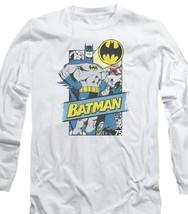 Batman DC Comics Superhero Retro Superhero Distressed long sleeve tee BM2414 image 2