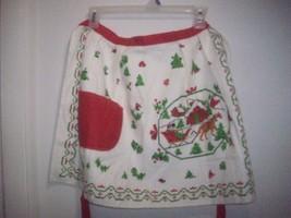 Vintage Terry Cloth Christmas Ladies Woman Kitc... - $12.95