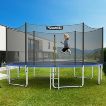 15 ft Outdoor Trampoline Combo with Bounce Jump Safety Enclosure Net and... - $808.99