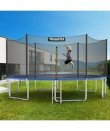 15 ft Outdoor Trampoline Combo with Bounce Jump Safety Enclosure Net and Spring  - $808.99