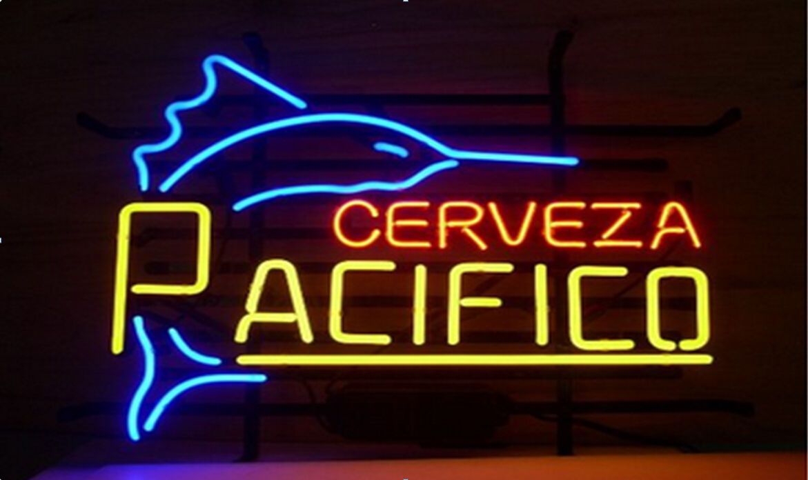 "New Cerveza Pacifico Beer Lager Real Glass Handmade Neon Sign 24""x20"""