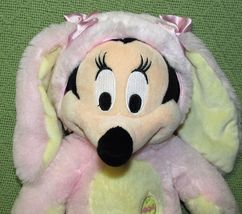 DISNEY STORE BABY Pink Easter Bunny & Mrs. Santa Claus Minnie Mouse Plush Dolls image 3