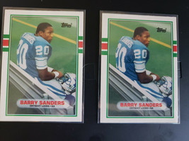 (2) - 1989 Topps Traded #83T Barry Sanders Rookie RC 2 Card Lot - $19.80