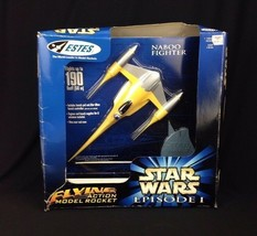 Vintage Estes Star Wars Episode 1 E1 Naboo Fighter Flying Action Model R... - $56.06