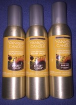 YANKEE CANDLE SUNSET FIELDS Room Spray LOT OF 3... - $20.34