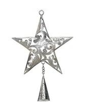Ornament Star w/ Bell Silvertone - Regal Art #T202 - $19.79