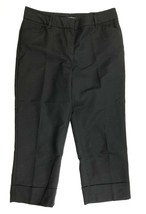 Ann Taylor Womens Cropped Dress Pants Size 6 Solid Black - $21.03