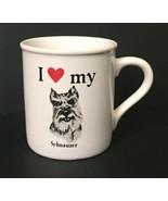 I Love My Pet Schnauzer Dog Mug White Coffee Cup Animal Heart Papel USA ... - $19.79