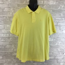 Izod Mens Polo Rugby Yellow Shirt Short Sleeve 100% Cotton  Size 2XL Used - $16.78