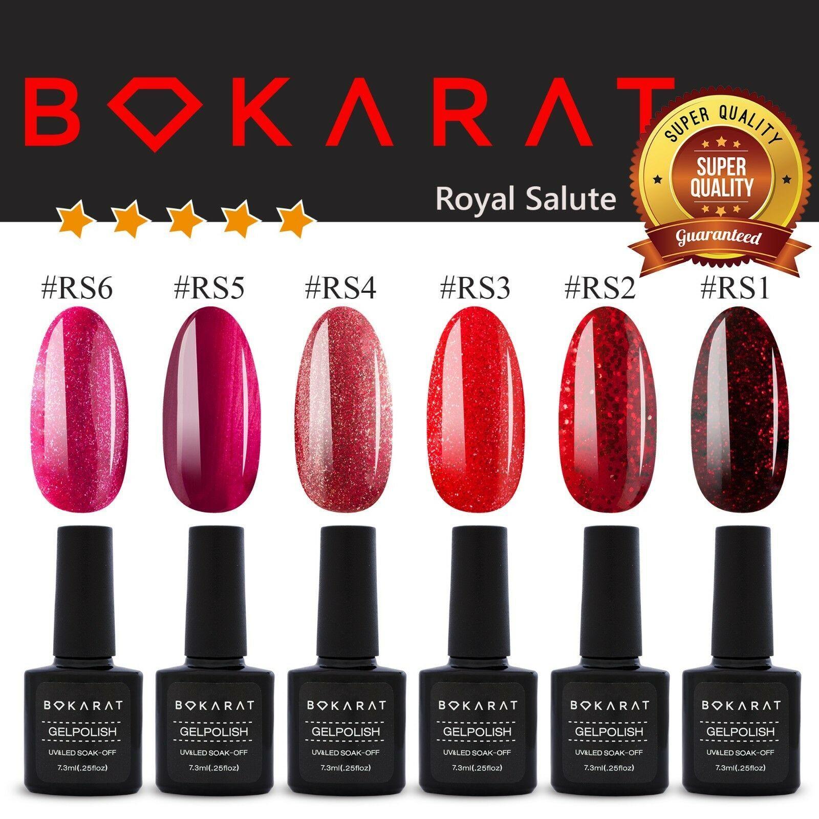 Gel Nail Polish Royal Salute Colors Bokarat 7.3 ml Soak Off UV LED High Quality