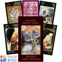 MANARA EROTIC MINI TAROT CARDS ESOTERIC FORTUNE TELLING LO SCARABEO NEW - $16.33