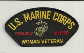 "WOMEN MARINE CORPS  VETERAN PROUDLY SERVED EGA LOGO 5""  EMBROIDERED  PATCH - $15.33"