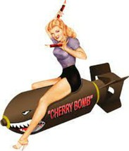 Made In United States Cherry Bomb Nose Art Decal 6''   - $19.79