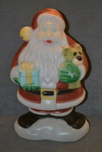 "General Foam Christmas Blow Mold: Santa Claus w/ Teddy Bear 18"" [w/ Ligh... - $20.00"