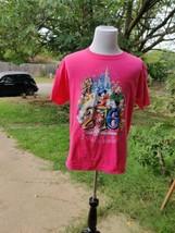 Women's Walt Disney World By Hanes Pink 2016 Graphic T-shirt, Size L - $8.40